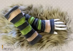 Armstulpen-Damen-Fleece-grau-grün-beige-Shop