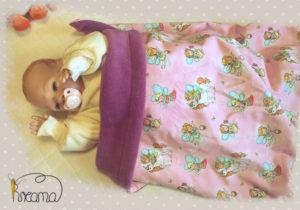Babydecke-Elfen-Trico-Rückwand-Fleece-ros-mit-Puppe-Shop-2