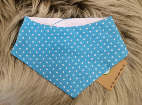 Babyhalstuch-Dreiecktuch-Punkte-blau