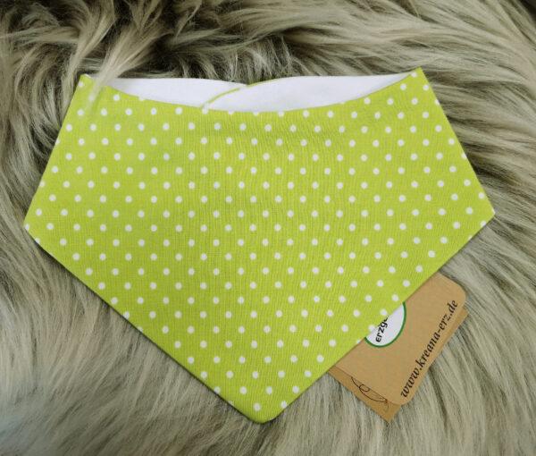 Babyhalstuch-Dreiecktuch-Punkte-grün