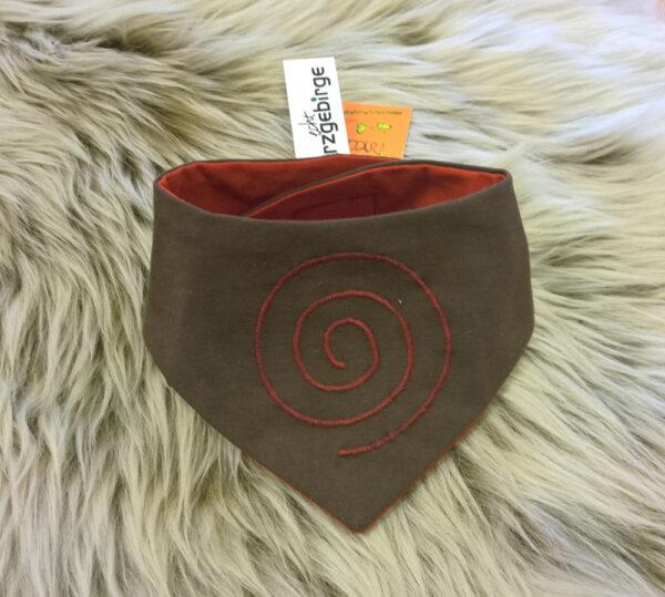 Babyhalstuch-Dreiecktuch-Spirale-braun-rot