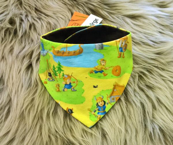 Babyhalstuch-Dreiecktuch-Vikinger-grün-braun