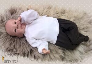 Babyshirt-Wickelshirt-Nicky-weiß-mit-Puppe-Shop