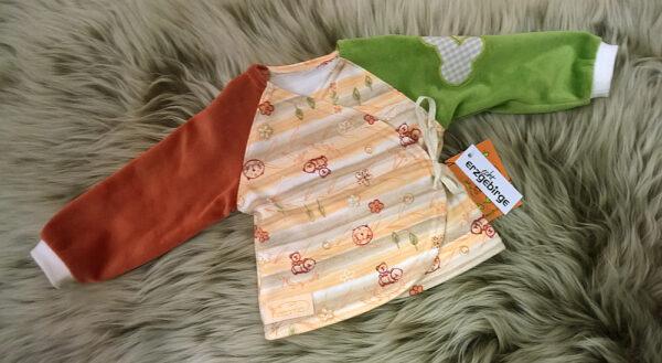 Babyshirt-Wickelshirt-Streifen-Wald-Aermel-Nicky-kaki-terra