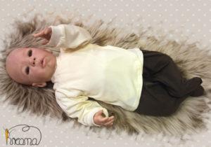 Babyshirt-Wickelshirt-Trico-natur-mit-Puppe-Shop