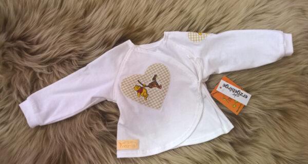 Babyshirt-Wickelshirt-Trico-weiß-Applikation-Herz-Winni-Pooh
