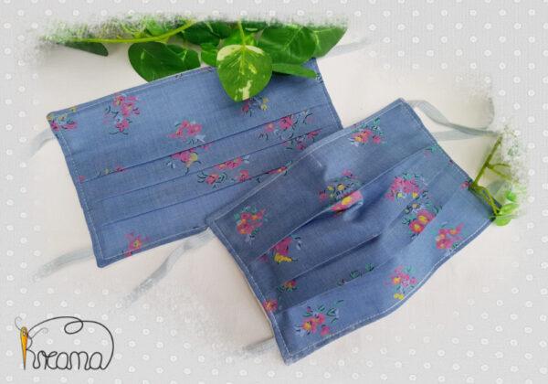 Behelfsmundschutz-Mund-Nasen-Schutz-Blumen-Jeans-ab-12-Jahre-normal-Shop