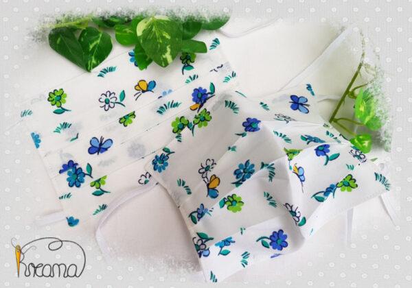 Behelfsmundschutz-Mund-Nasen-Schutz-Blumen-blau-grün-ab-12-Jahre-normal-Shop