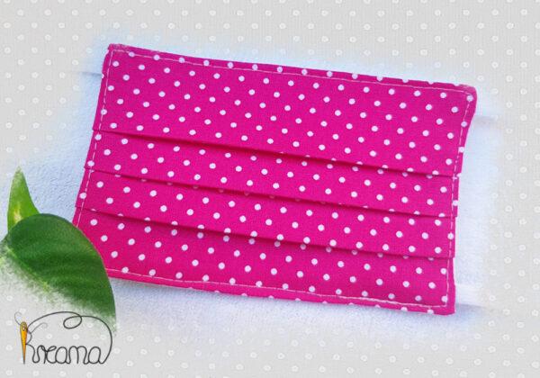 Behelfsmundschutz-Mund-Nasen-Schutz-Punkte-pink-ab-12-Jahre-normal-Shop