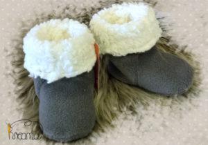 Fellschuhe-Fleece-braun-natur