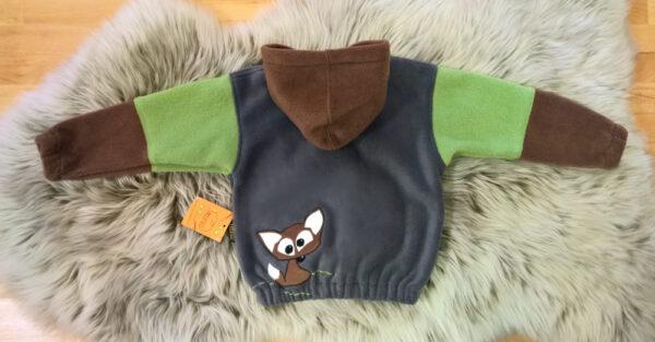 Fleecepulli-Fuchs-braun-grün-grau-von-hinten