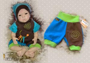 Hosen-blau-braun-einzeln-mit-Puppe-Shop