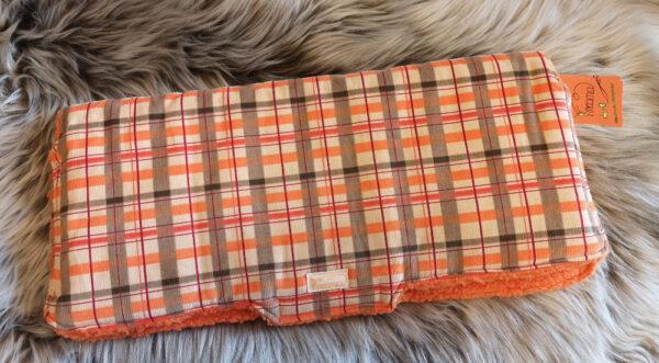 Kutschenmuff-karo-orange