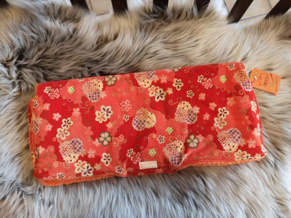 Kutschenmuff-orange-Blumen