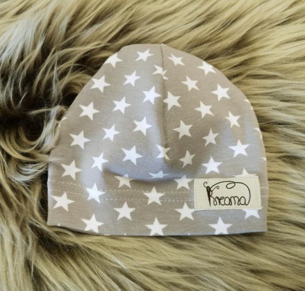 Mütze-Sterne-grau
