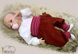 Pumphose-Babyhose-Cord-beere-Bündchen-Streifen-pink