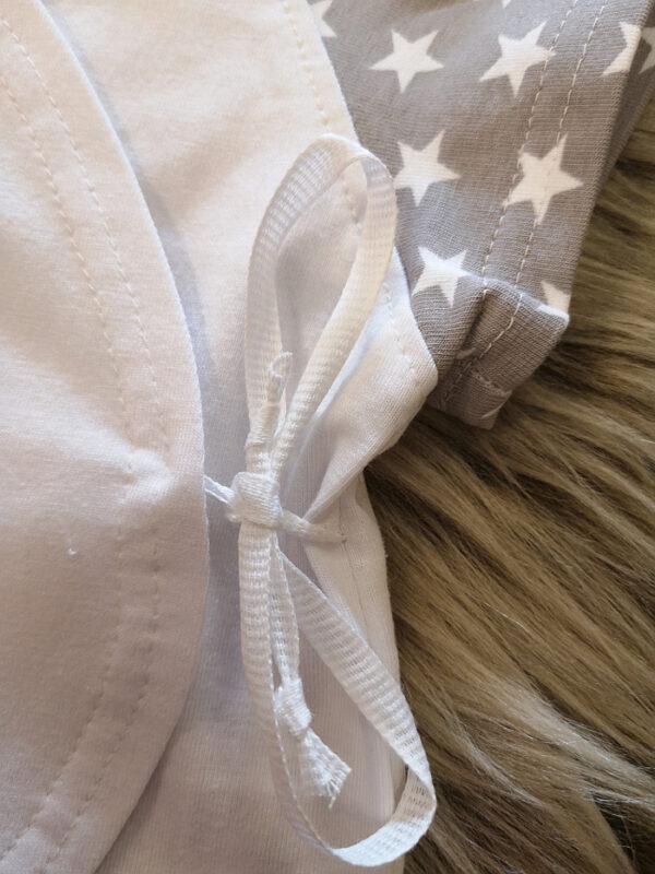 Wickelshirt-Beispiel-Bindebänder