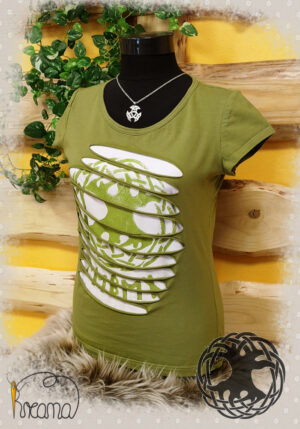 T-Shirt Lebensbaum grün-seitlich-shop