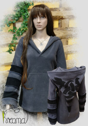 Titelbild-Fleecepulli-grau-schwarz-Odin