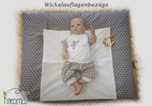 Wickelauflagenbezug-Titelfoto-mit-Puppe-Sterne-grau-für-Shop