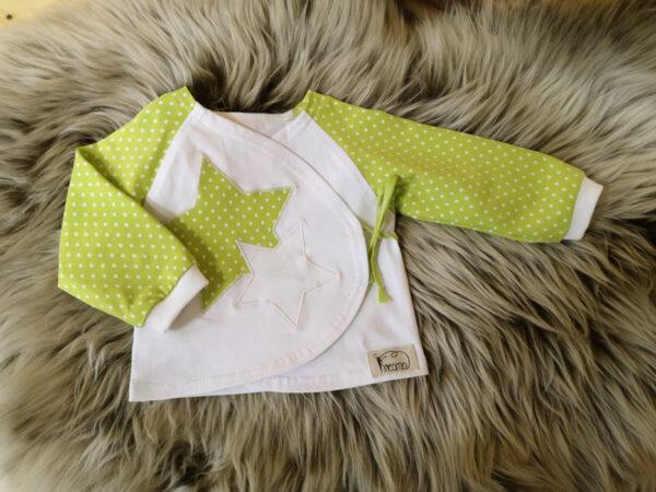 Wickelshirt-Punkte-grün