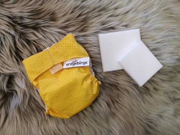 Windelhose-Punkte-gelb-Größe1