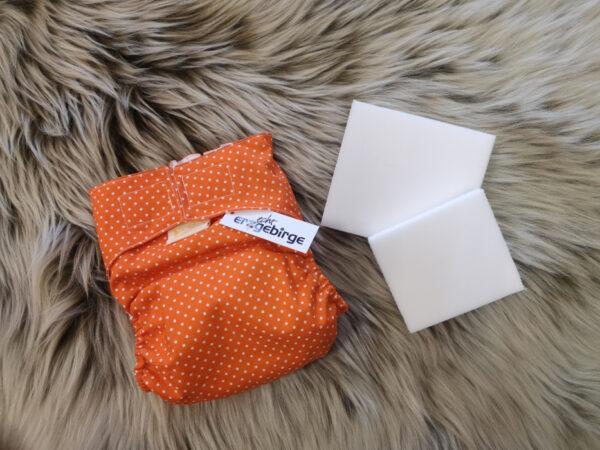 Windelhose-Punkte-orange-Größe1